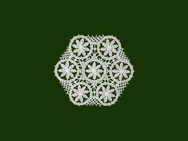 Pag lace hexagon 10cm