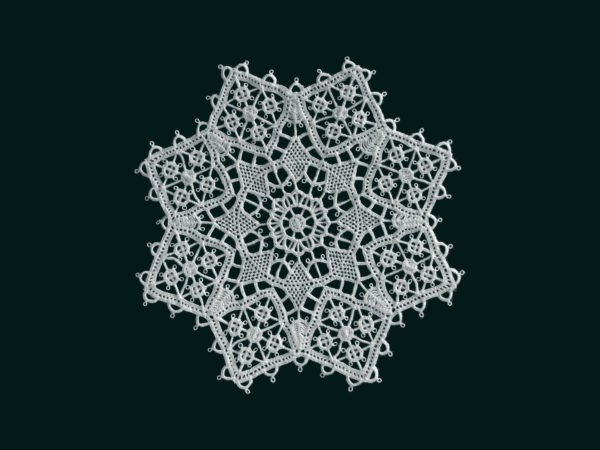 Pag lace star 12cm