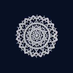 Pag lace circular 9cm