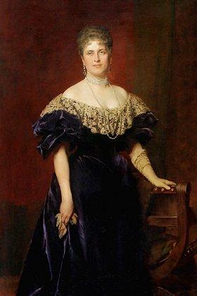 Portrait of Princess Maria Josephine in 1897 by Kazimierz Pochwalski