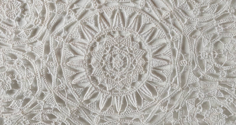 Center detail of a lace from Pag