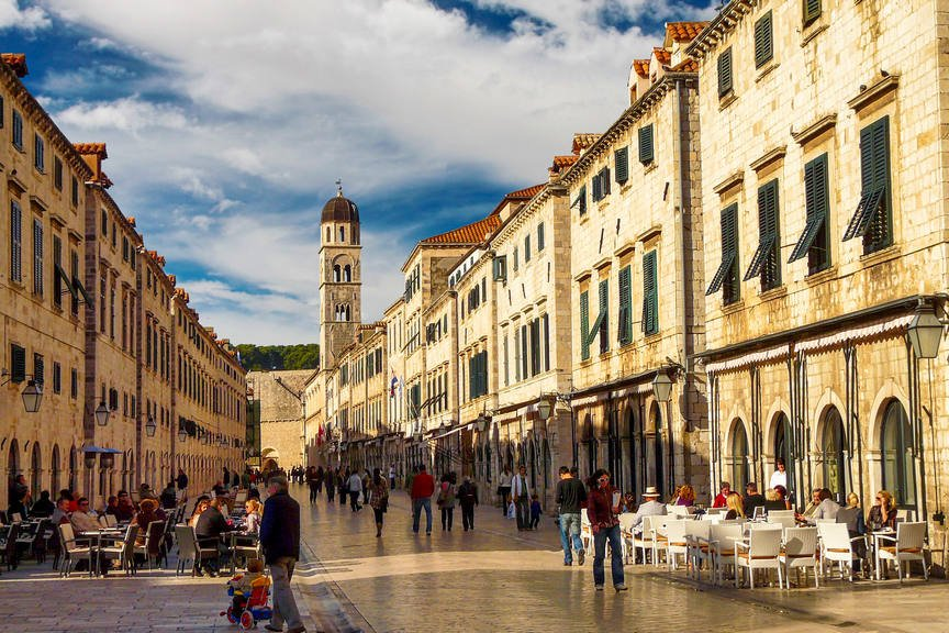 The main street of Dubrovnik